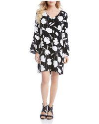 Karen Kane - Printed Bell Sleeve Dress - Lyst