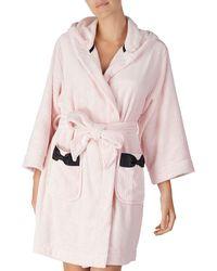 Kate Spade - Hooded Fleece Robe - Lyst