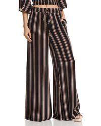 Re:named - Quinn Striped Wide-leg Pants - Lyst