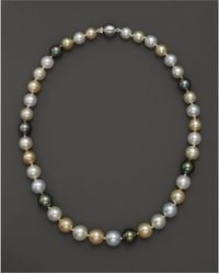 """Bloomingdale's - Cultured South Sea And Tahitian Pearl Necklace, 18"""" - Lyst"""