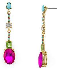 R.j. Graziano - Multicolor Faceted Linear Drop Earrings - Lyst