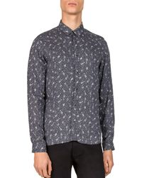 The Kooples - Guitar Notes Slim Fit Button-down Shirt - Lyst
