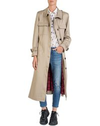 The Kooples - Long Trench Coat - Lyst