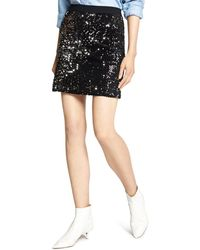 Sanctuary - Ready For The Night Sequined Mini Skirt - Lyst