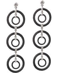 Alor - Noir Cable Drop Earrings - Lyst