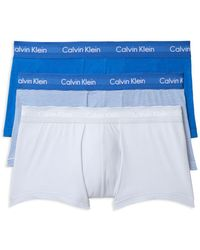 Calvin Klein - Stretch Cotton Low Rise Trunks - Pack Of 3 - Lyst