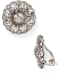 Carolee - Embellished Clip-on Earrings - Lyst