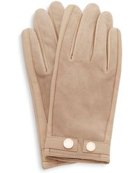 Ted Baker - Ssue Leather & Suede Gloves - Lyst