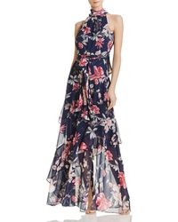 Eliza J - Tiered Floral Gown - Lyst
