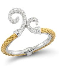 Alor - Diamond Gray Cable Ring - Lyst