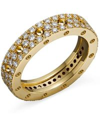 Roberto Coin - 18k Yellow Gold Pois Moi Diamond Pavé Ring - Lyst