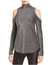 Karen Kane - Metallic Cold Shoulder Top - Lyst