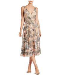 Dress the Population - Audrey Embroidered Dress - Lyst