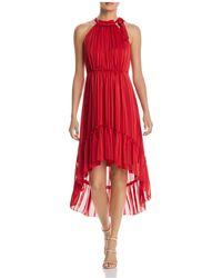 T Tahari - Vitala Tonal-stripe High/low Dress - Lyst