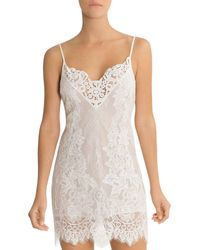 Lyst - Jonquil Nadia Lace-top Chemise in Black 9f0dbcb25