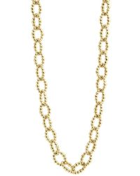 Lagos - Caviar Gold Collection 18k Gold Fluted Oval Link Necklace - Lyst
