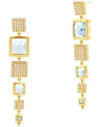 Freida Rothman - Frieda Rothman Ocean Azure Line Earrings - Lyst