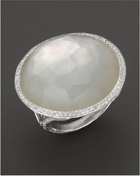 Ippolita - Sterling Silver Stella Ring In Mother-of-pearl Doublet With Diamonds - Lyst