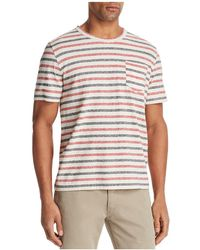 Billy Reid - Striped Short Sleeve Tee - Lyst