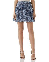 Reiss - Brisa Floral Mini Skirt - Lyst