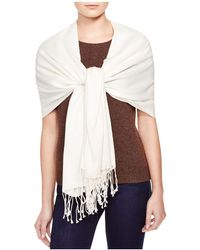 C By Bloomingdale's - Fringe Scarf - Lyst