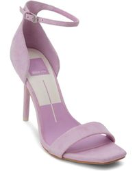 Dolce Vita - Women's Halo Suede High Heel Ankle Strap Sandals - Lyst