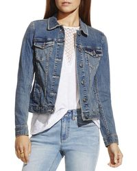Vince Camuto - Vince Camuto Classic Denim Jacket - Lyst