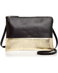 Alice.D - Metallic Colour Block Leather Crossbody - Lyst