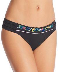 Nanette Lepore - Femme Noir Siren Embroidered Bikini Bottom - Lyst