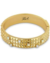 Karl Lagerfeld - Pyramid Cuff Bracelet - Lyst