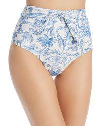 Tory Burch - Far And Away High Waist Bikini Bottom - Lyst