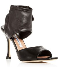 Brian Atwood - Women's Stella Stretch Leather High-heel Sandals - Lyst