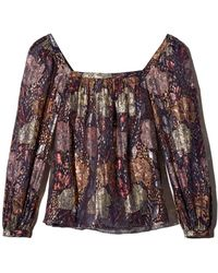 Rebecca Taylor - Metallic Rose Clip Top - Lyst