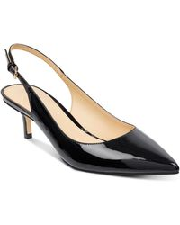Ivanka Trump - Women's Aleth Patent Leather Pointed Toe Slingback Pumps - Lyst