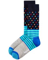 329a88a2c6 Lyst - Perry Ellis Multi Color Stripes And Dots Socks in Blue for Men