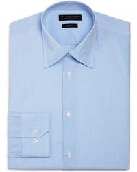 Bloomingdale's - Micro Shadow Check Slim Fit Dress Shirt - Lyst
