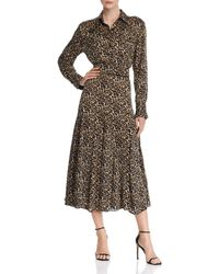Equipment - Lenora Leopard-print Shirt Dress - Lyst