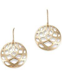 Bloomingdale's - Small Bold Weave Drop Earrings In 14k Yellow Gold - Lyst