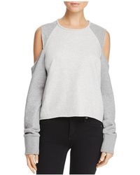 Rag & Bone - Cold-shoulder Sweatshirt - Lyst