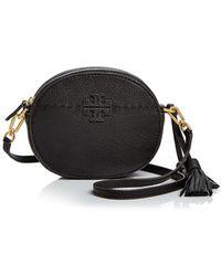 Tory Burch - Mcgraw Round Leather Crossbody - Lyst