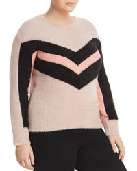 Vince Camuto Signature - Textured Chevron Stripe Sweater - Lyst