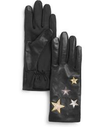 Aqua - Star Embroidered Tech Gloves - Lyst