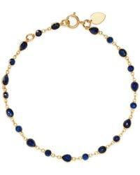 Meira T - 14k Yellow Gold Sapphire Bezel Bracelet - Lyst