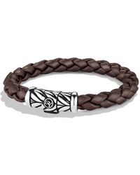 David Yurman - Chevron Bracelet In Brown - Lyst