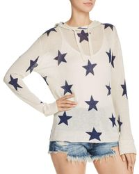 Aqua - Star Hooded Sweater - Lyst