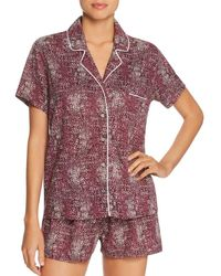 Splendid - Intimates Piped Short Pajama Set - Lyst