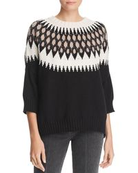 Minnie Rose - Fair Isle Knit Jumper - Lyst