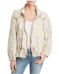 Donna Karan - Hooded Zip Jacket - Lyst