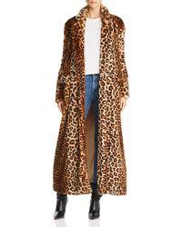 Rebecca Minkoff - Turner Leopard-print Faux-fur Duster Coat - Lyst