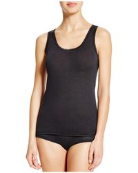 Fine Lines - Pure Cotton Wide Strap Tank - Lyst